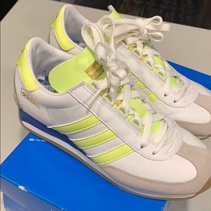 Adidas Night Jogger neon green and white